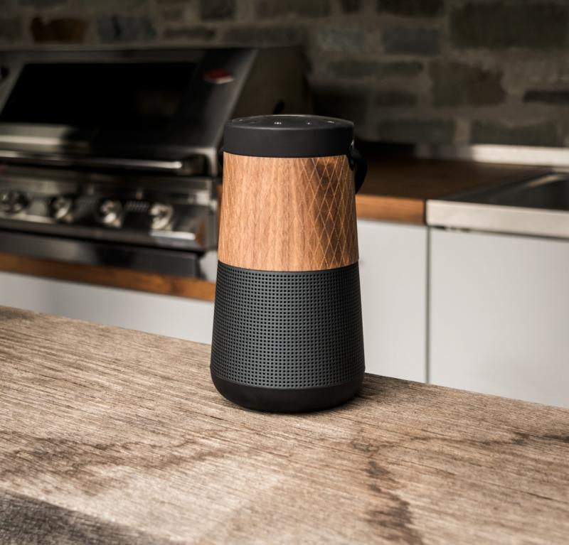 BOSE SOUNDLINK REVOLVE+ WALNUSS HOLZ COVER